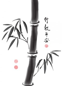 painting of a Chinese bamboo