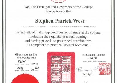 ICOM Certificate